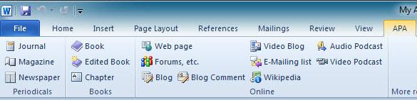 apa template software